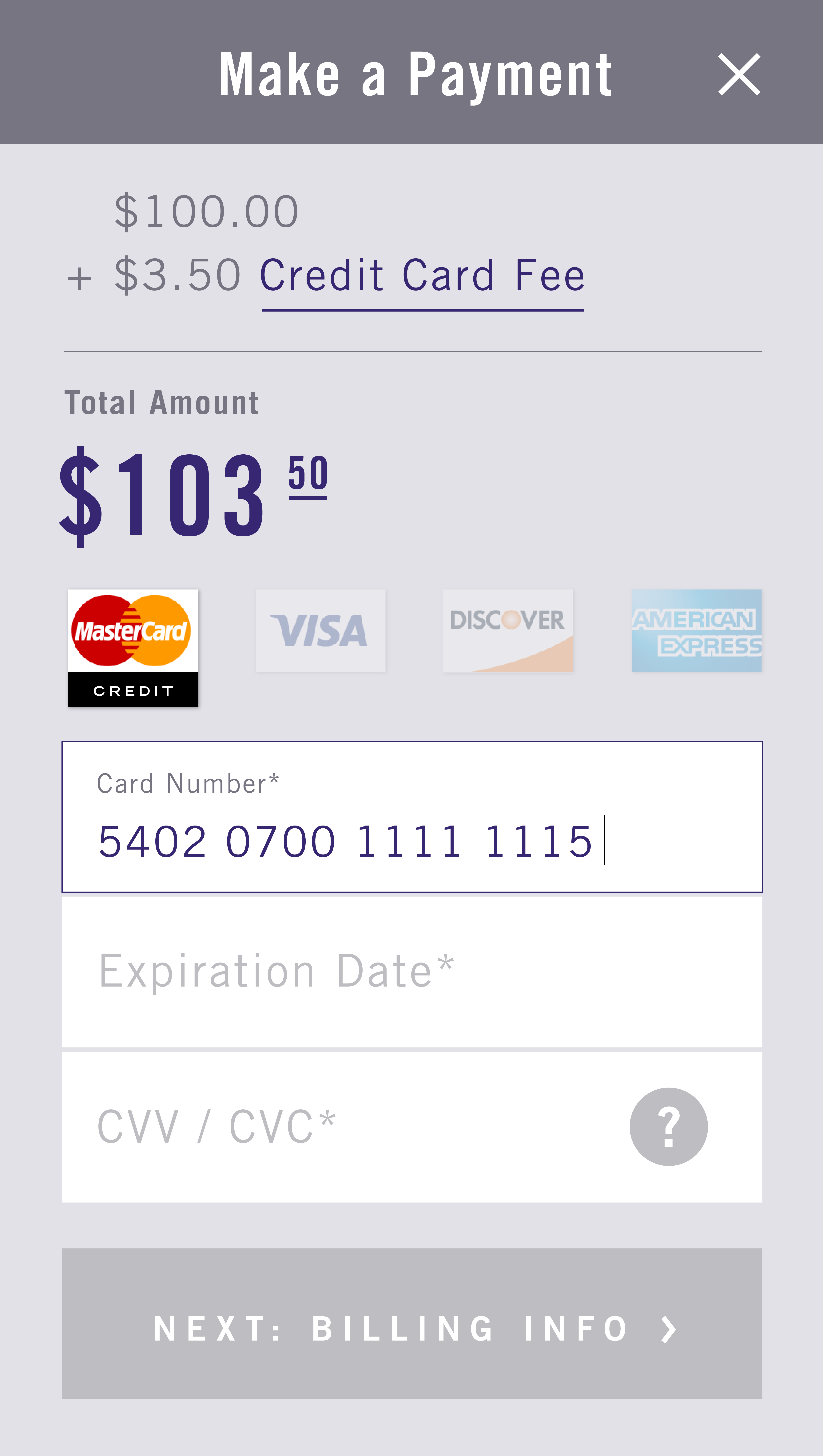 For business cardx when customers choose a credit card they also cover the fee colourmoves